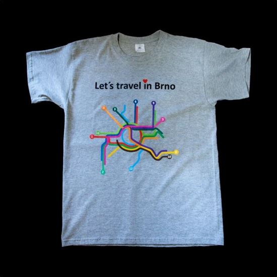 eshop DPMB. Tričko Let s Travel in Brno – dětské 8b272f2160