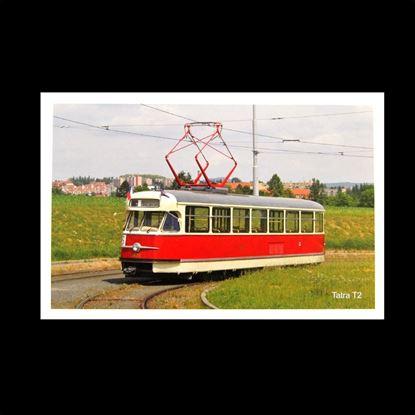 Obrázek Pohlednice tramvaje Tatra T2 - Sputnik