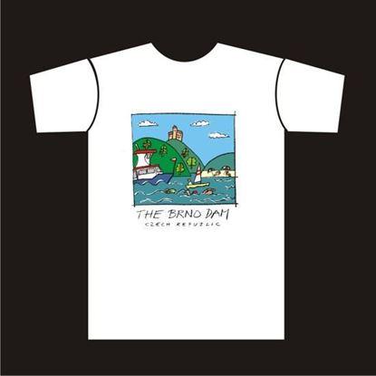 Obrázek Tričko s obrázkem brněnské přehrady