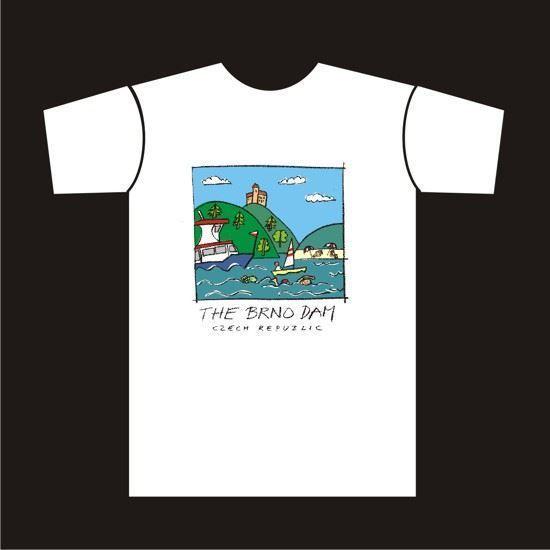 eshop DPMB. Tričko s obrázkem brněnské přehrady - dětské 950edfd4de