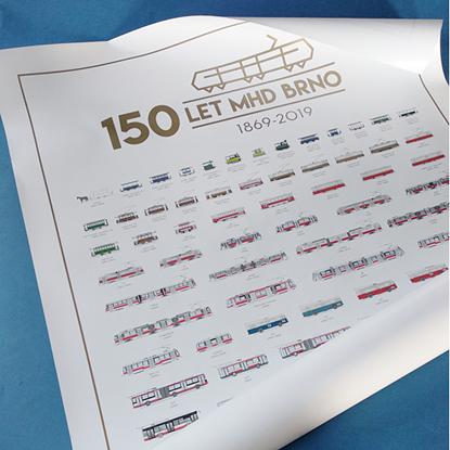 Obrázek Plakát 150 let MHD v Brně