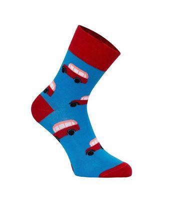 Obrázek Výroční ponožky dlouhé s autobusem