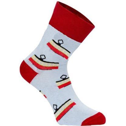 Obrázek Výroční ponožky dlouhé s tramvají